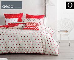 Deco City Living Arin Queen Bed Quilt Cover Set - Orange Quilt Cover Sets | Trade Me