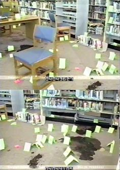 """The library. """"we are infinite. we are columbine. remember us"""""""