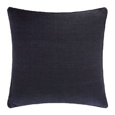 Discover the Gingerlily St Mawes Silk Cushion - 50x50cm - Navy at Amara