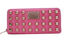 Ladies Wristlet Leather Zip Wallet Purse Clutch Case Cover For iPhone 4 5 Diamond Metal Patterns