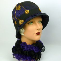 Reproduction 1920s Style Cloche Hat by NouveauHatsbySharon on Etsy