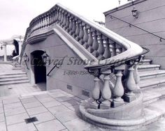 Do you want a grand staircase in your garden? Click on this picture to view our stone staircase designs! #Stone #Staircase #Design #Art #Garden