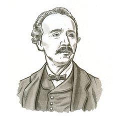 Illustration Heinrich Schliemann aus `Der Fluch von Troja´ erschienen im Loewe Verlag, 2010