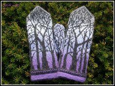 Ravelry: siiliste's Deep in the Forest Mittens / Talveöökindad Mittens, Ravelry, Deep, Crochet, Winter, Fingerless Mitts, Winter Time, Fingerless Mittens, Ganchillo
