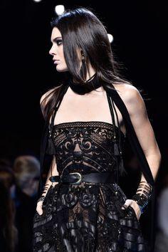 runwayandbeauty: Kendall Jenner - Detail at Elie Saab Fall 2016-17, Paris Fashion Week.