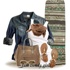 I'm not big into skirts and dresses for casual wear, but this look nice.