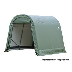 Shelter Size: 10' x 20' x 8', Color: Green by ShelterLogic. $579.32. 71012 Size: 10' x 20' x 8', Color: Green Features: -Round style shelter.-Bolt-together hardware at every connection point ensures maximum strength and durability.-Ratchet tite tension system and easy-glide sliding cross rails keep the cover smooth and taught.-Universal steel foot plates for easy and solid connection to ground anchors, cement or pony walls.-Front and back zippered doors for easy-access drive-thr...