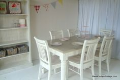 Restyled Vintage: Beachy Bookcase and Dining Suite