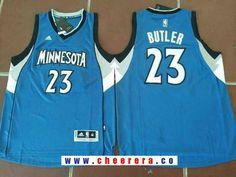 Men s Minnesota Timberwolves  23 Jimmy Butler Blue Stitched NBA adidas Revolution  30 Swingman Jersey adaf8effd