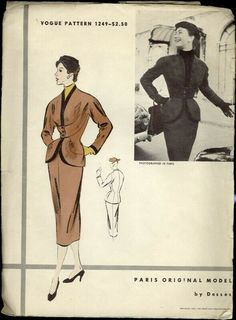 Vogue Sewing Patterns, Vintage Sewing Patterns, Long Kimono, Vintage Coat, Vintage Vogue, Vogue Paris, Cool Suits, Vintage Dresses, The Originals