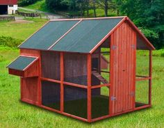 New-98-Walk-In-Wood-Chicken-Coop-Hen-House-Chick-Nesting-Box-Rabbit-Hutch-WC05