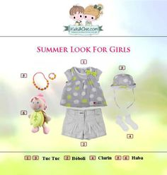 #Summer #look for #girls from #TucTuc #Boboli #Clarin #Haba.  Check at www.kidsandchic.com/girl    #girlsclothing #girlsfashion #kidsfashion #trendychildren #kidsclothing #shoppingbarcelona