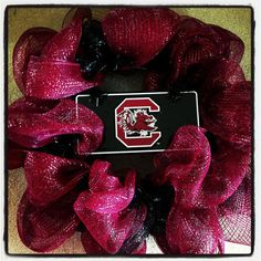 Items similar to South Carolina Gamecock Collegiate Wreath on Etsy Football Crafts, Football Wreath, University Of South Carolina, South Carolina Gamecocks, Gamecock Nation, Go Gamecocks, Carolina Football, College Football Teams, Deco Wreaths