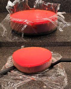Torta de yogurt - Cobertura de gelatina