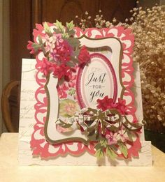 Anna Griffin Window Frame card as shared on Facebook