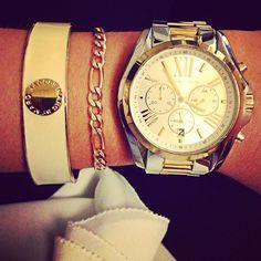 Watch and bracelets.