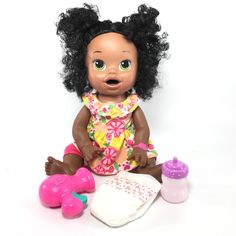 Details about ba alive lil sounds blonde hair doll toy for kids years and up to yellow tutorials maroon coloring cute hairstyles name reveal first feeding orange juice with skye ready school black African American Baby Dolls, African American Hairstyles, Hairstyle Names, Cute Hairstyles, Sarah Black, Baby Alive, New Dolls, Maroon Color, Hair Humor