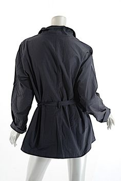 8450ba879d88 RODIER Water Resistant Belted Black Jacket Spring Jackets, Black Cotton,  Size 12, Blazer. Tradesy