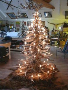 Antler Christmas Tree, I'll have one someday!