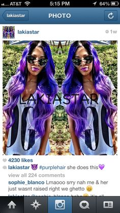 Lakiastar of YouTube! Purple hair!