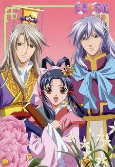 The Story of Saiunkoku Monogatari big postcard promo Kou Shurei Shuurei , Shi Seiran , Shi Ryuki / Yukino Sai / Yura Kairi