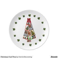 Christmas Card Tree Porcelain Plate