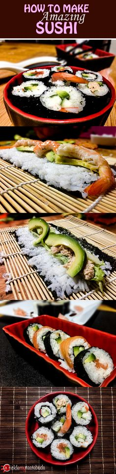 Follow our step-by-step beginner's guide to creating your very own homemade sushi - includes creamy crab, salmon and avocado and the California roll! Simple and delicious!