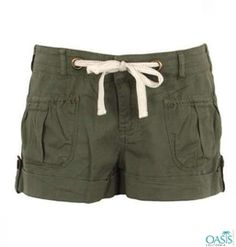 a38d526467 Wholesale olive green shorts for women at Oasis Promotional Cargo Shorts  Women, Olive Green Shorts