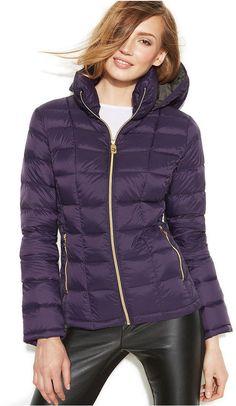 MICHAEL Michael Kors Hooded Down Packable Coat on shopstyle.com