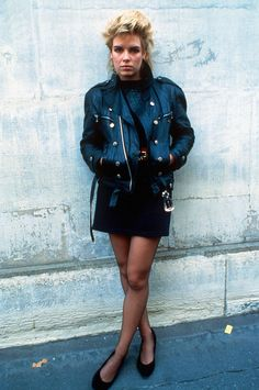 Party like Kim Wilde circa 1984 in leather mini skirts and biker jackets. #Topshop