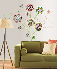 Take a look at this Flower Power Wall Decal Set by WallPops! on #zulily today! $19 !!