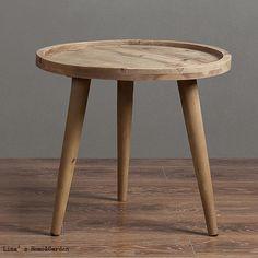 Risultati immagini per tavolino legno rotondo piccolo