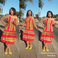 Venda Traditional Attire, African Traditional Wear, African Traditional Wedding Dress, Traditional Styles, African Beauty, African Fashion, Shweshwe Dresses, African Wear Dresses, South African Weddings