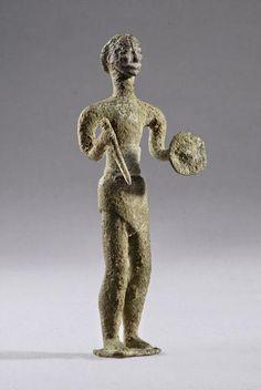 Iberian Bronze Warrior | 5th Century BC | Price $12,500.00 | Iberian | Bronze | Sculpture | eTiquities by Phoenix Ancient Art