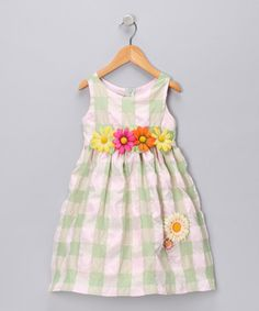 Take a look at this Pink & Mint Checkers Dress - Infant, Toddler & Girls by Blow-Out on #zulily today!