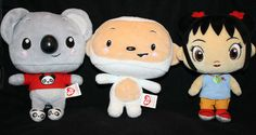 Ni hao kai lan hoho tolee ty plush log of 3 beanie babies nick jr