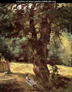 Woman Seated Under A Tree - Gustave Caillebotte - www.gustavcaillebotte.org