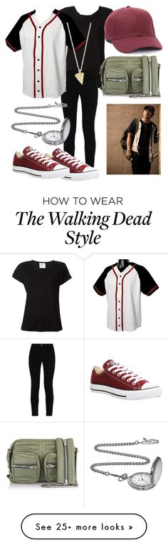 """Walking Dead: Glenn Rhee"" by deathbat37 on Polyvore featuring Forte Forte, STELLA McCARTNEY, Champion, Topman, Converse, Rock 'N Rose and Alexander Wang"
