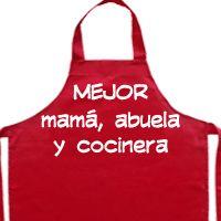 delantal personalizado mejor abuela mama y cocinera, regalo dia de la madre