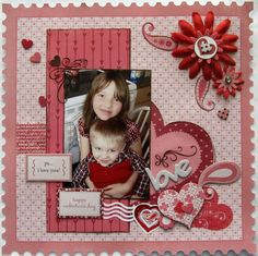 Single Vertical Photo scrapbook page# layout