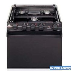 Ranges: Ranges: 21 3 Burner Wedgewood LP Gas Range Black 52275 RV2135BBU