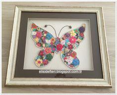 Elişi Defteri: Kelebeğe Çiçekler Konmuş:)