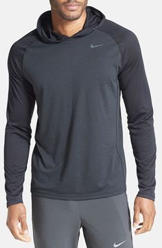 Nike 'Dri-FIT Touch' Moisture Wicking Raglan Sleeve Hoodie available at #Nordstrom i actually might buy this