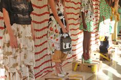 Chris Benz - Spring 2013  love all the different fabrics, colors, I'd wear that all year long