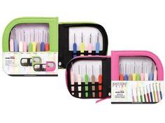 Knitter-s Pride Crochet Hooks Sets, Waves with Green Case * To view further for this item, visit the image link.