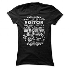 I Am A Editor - #short sleeve sweatshirt #personalized sweatshirts. PURCHASE NOW => https://www.sunfrog.com/LifeStyle/I-Am-A-Editor-Black-Ladies.html?60505