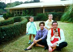 Johnny , Vivian Liberto Cash, and their children in 1960, from the book 'LIFE Unseen'