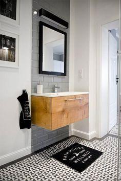 Browse modern bathroom designs and decorating ideas. Discover inspiration for your minimalist bathroom remodel, including vanities, cabinets, mirrors, faucets room decor projects for a taste of magic bathroom ideas Bathroom Toilets, Laundry In Bathroom, Bathroom Cleaning, Small Bathroom, Master Bathroom, Bathroom Remodeling, Vanity Bathroom, Wood Vanity, Remodel Bathroom