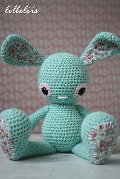 Peppermint bunny - crochet toys, amigurumi animal.