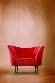 Samt rotes Sofa | velvet Red Sofa